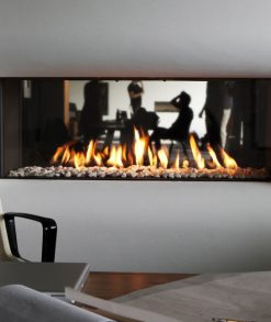 Caminetto gas Bifacciale B-fire 100 Tulp