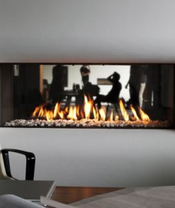Caminetto gas monofacciale B-fire 100 Tulp