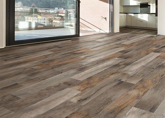Piastrelle effetto legno serie vintage savoia marrone 20x120 cm