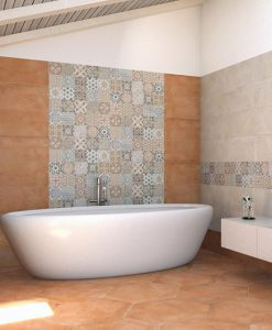 Piastrelle gres porcellanato 25x60 serie Madison Paul ceramiche Cotto, Multicolor e Pergamon