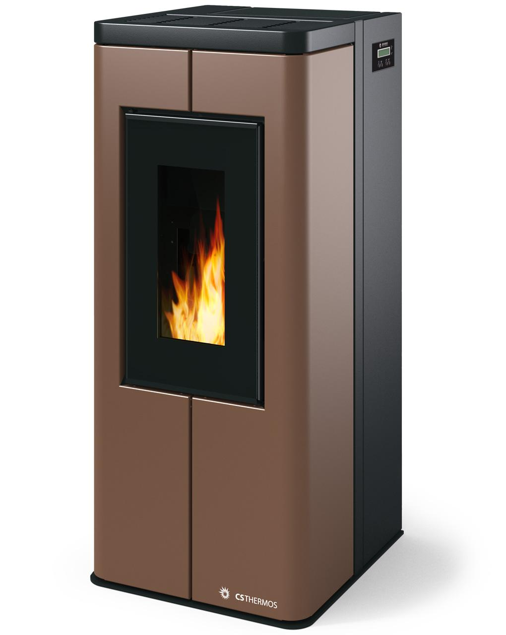 Stufa a pellet biomassa SCRIGNO 8 kW CS Thermos