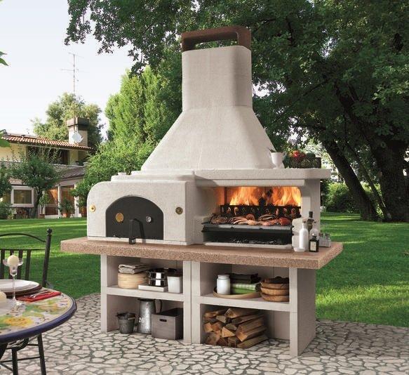 Barbecue in muratura da giardino gargano 3 palazzetti for Barbecue oslo palazzetti