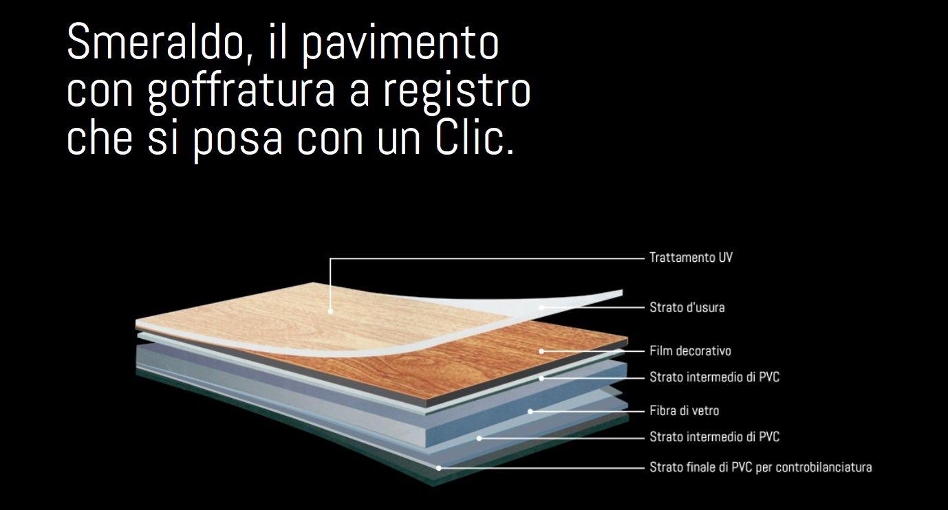 Pavimento Pvc Flottante Opinioni pavimento pvc smeraldo cork vogue 122x18